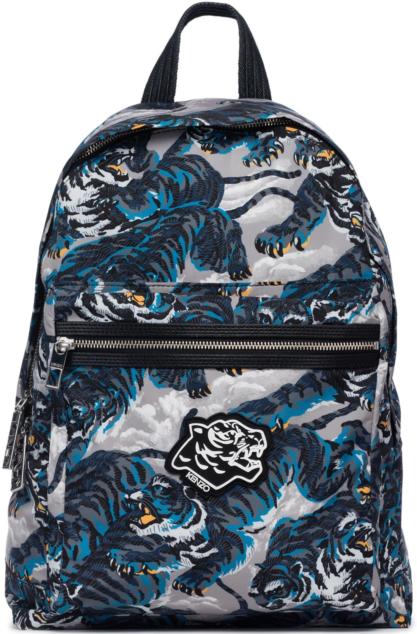 f2d89100 Kenzo: Flying Tiger Backpack - Blue   Influence U