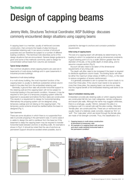 Design of capping beams - The Institution of Structural