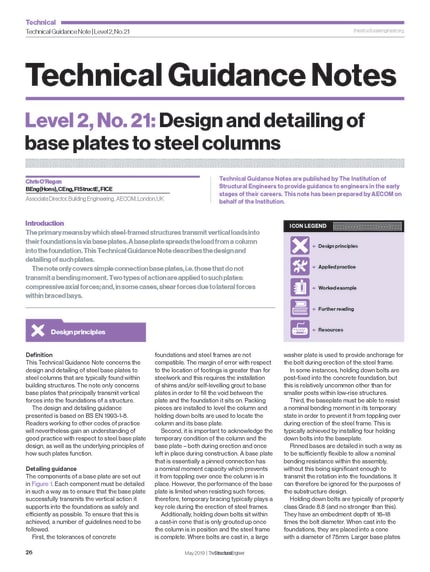 Technical Guidance Note (Level 2, No  21): Design and detailing of