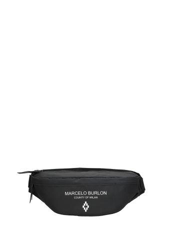 Marcelo Burlon Black Cotton Belt Bag