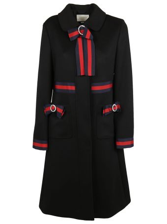 Gucci Web Trimmed Coat