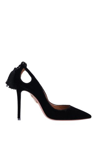 Aquazzura Forever Marilyn Suede Pumps