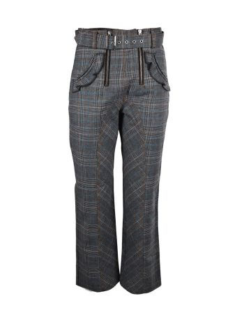 self-portrait Checked Lexi Trousers