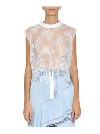 Off-White Floral Lace Top