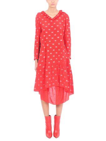Balenciaga Hybrid V-neck Dress