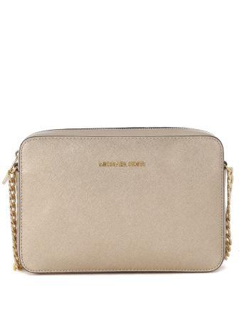 Michael Kors Jet Set Gold Saffiano Shoulder Bag