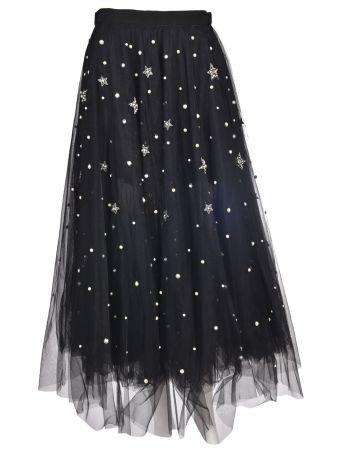 Wandering Embellished Full Skirt