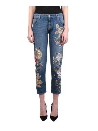Amen Boy Fit Cotton Denim Jeans