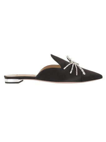 Aquazzura Crystal Spider Flat Sandals