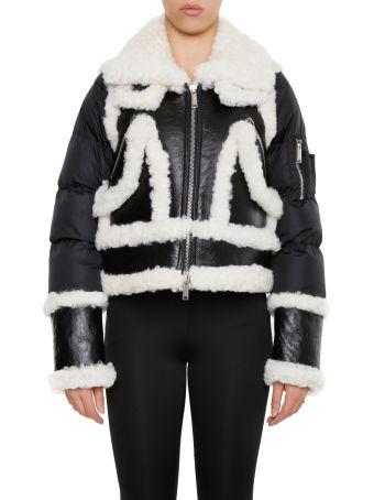 Shearling And Nylon Puffer Jacket