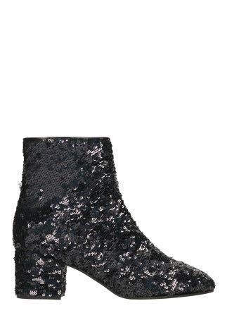 Marc Ellis Black Sequins Ankle Boots