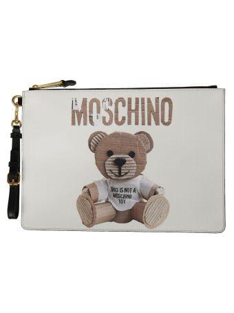 Moschino Bear Print Clutch