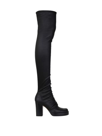 Rick Owens Stocking Chunky Stretch Leather Boots