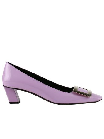 Pumps Belle Vivier Pumps In Patent Leather With Metallic Buckle