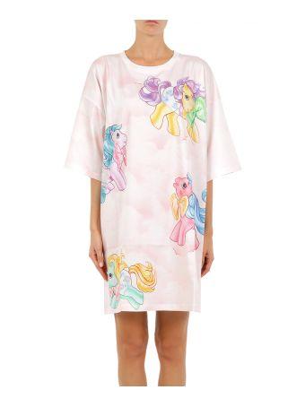 Moschino Oversized Cotton Jersey Dress