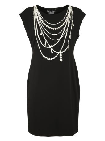 Boutique Moschino Dress With Pearls Embroidery
