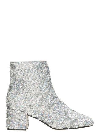 Marc Ellis Silver Sequin Ankle Boots