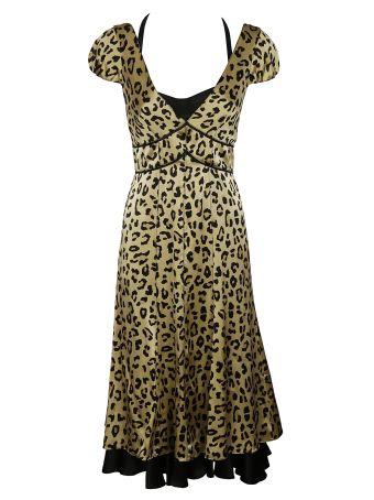 Cinq A Sept Leopard Print Dress