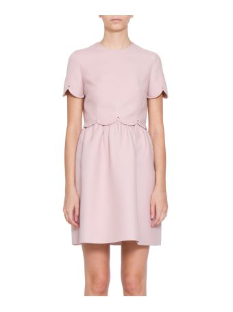 Valentino Crepe Couture And Silk Dress