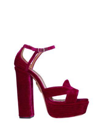 Aquazzura Ava Velvet Sandal