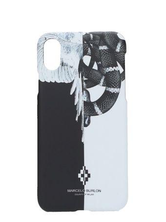 Marcelo Burlon Black/white Plastic Cover