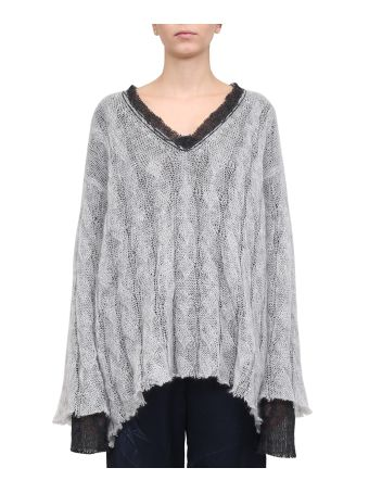 Maison Margiela Raw Edges Mohair Wool Sweater