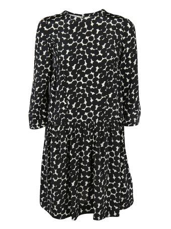 Barba Dot Print Flared Dress
