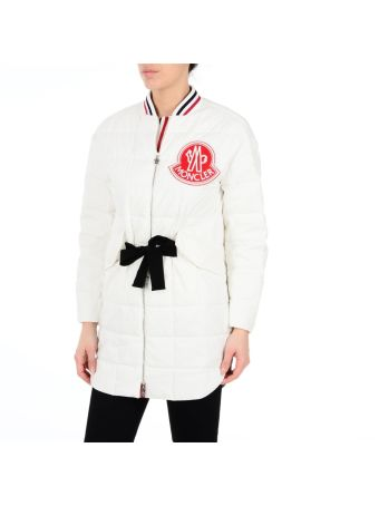 White Chanel Belted Long Jacket