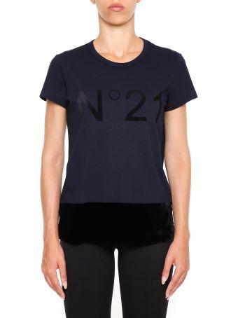 T-shirt With Velvet Insert
