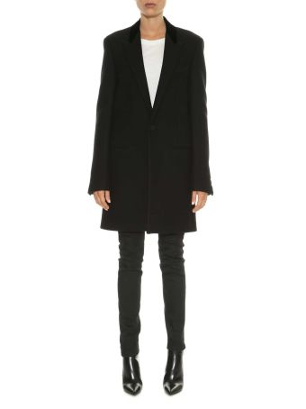 Saint Laurent Cappotto Un Bottone Con Revers