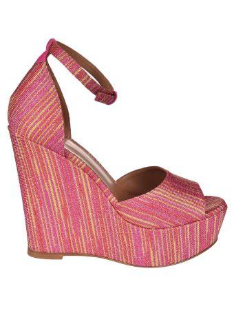 Missoni Striped Wedge Sandals