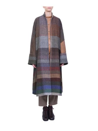 Dusan Wool And Cashmere Patchwork Coat