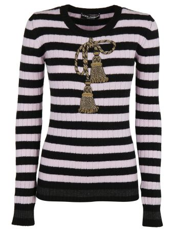 Dolce & Gabbana Embroidered Rope Sweater