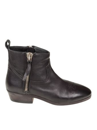 Golden Goose Boots Viand Black Leather