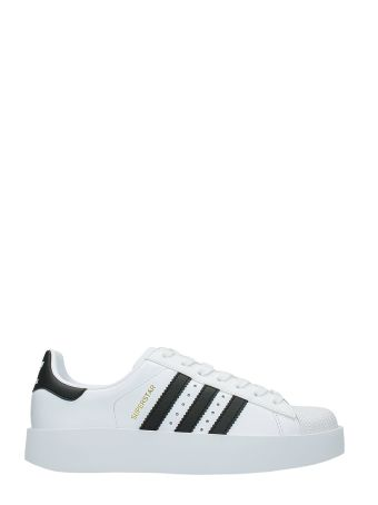 Adidas Superstar Bold White Leather Sneakers
