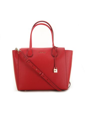Mercer Large Satchel Michael Michael Kors Red