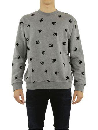 Mcq Alexander Mcqueen Flocked Swallow Sweatshirt