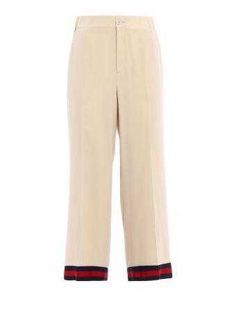 Gucci Silk Crepe De Chine Pants