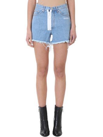 Off-White Light Blue Five Pockets Shorts