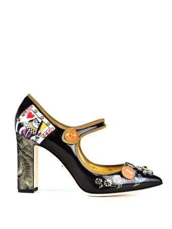 Dolce & Gabbana Dolce & Gabbana Bellucci Leather Mary Janes With Appliqués