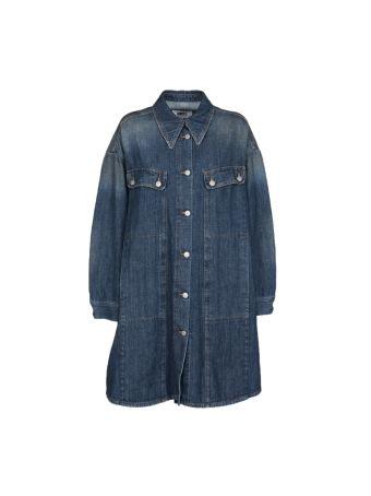 Mm6 Long Denim Jacket