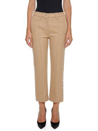 Wool And Denim Trousers