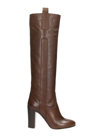 L'Autre Chose Brown Calf Leather Boots