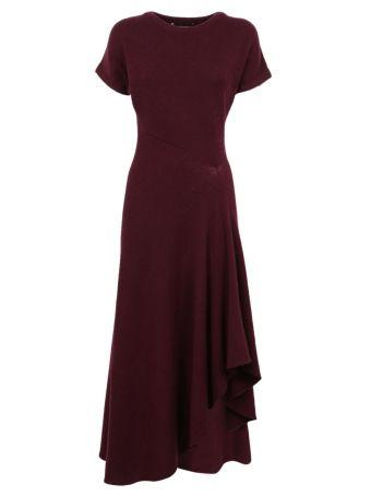 Cédric Charlier Asymmetric Ribbed Dress