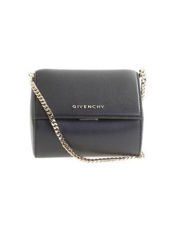 Black Leather Pandora Box Mini Bag