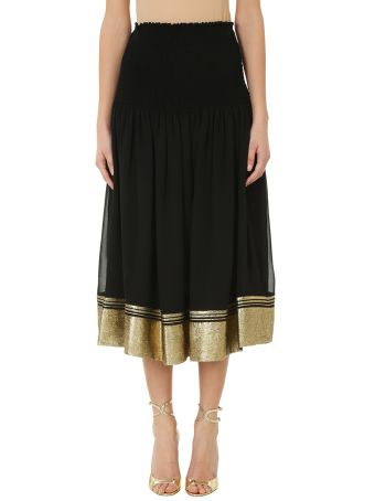 Chloé Gold Lurex Black Skirt