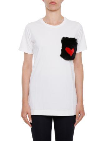 T-shirt With Fur Pocket