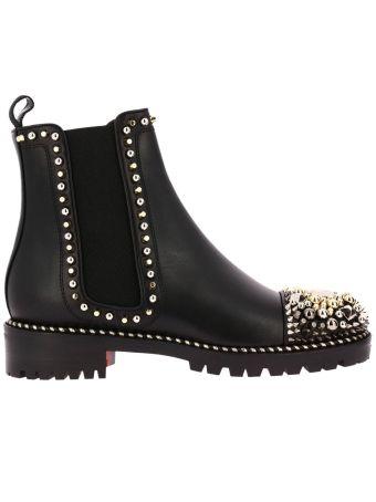 Flat Booties Shoes Women Christian Louboutin