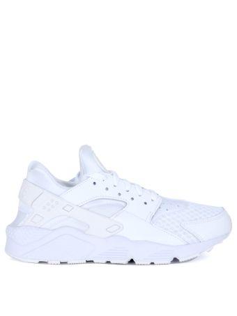 Sneaker Nike Air Huarache In Pelle Vegan E Neoprene Bianca