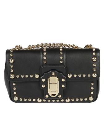 Dolce & Gabbana Gold Stud Shoulder Bag